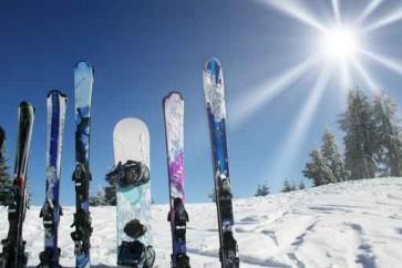 ski ciel soleil