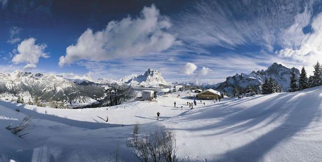 sciare sul civetta